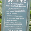 Kylemore Abbey - Victorian Gardens - Sign