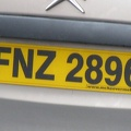 Northern Ireland License Plate