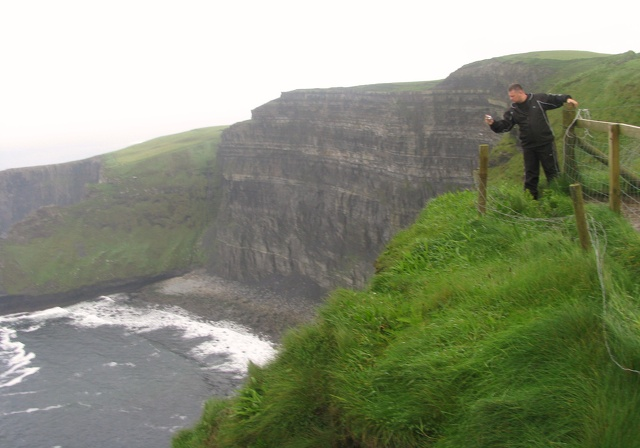 Cliffs of Moher - Second Warning Sign - Hanging From2.jpg