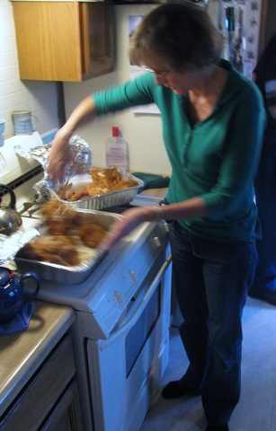 Bev with Chicken.JPG